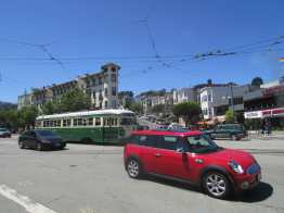 PCC Streetcar crossing Noe at Market