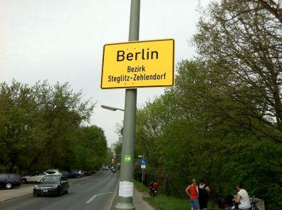 Entering Berlin from Teltow