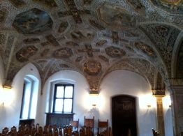A beautiful ceiling in the Poznan town hall