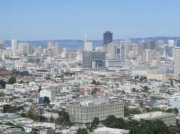 View of downtown San Francisco from Corona Heights