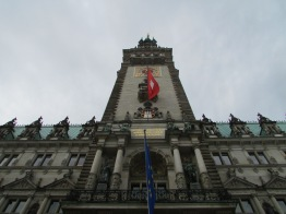 Looking up at the Hamburg town hall