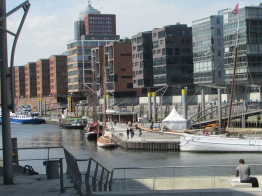 Close up of Hafen City in Hamburg