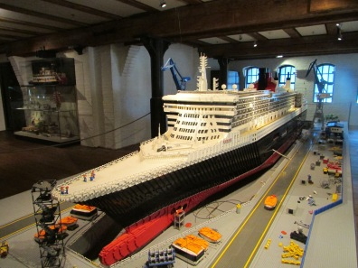 Lego Queen Mary at the Maritime Museum