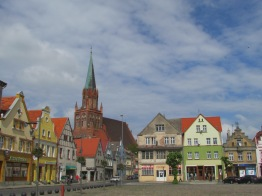 Town square of Teltow, Poland