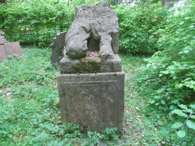 Destroyed WW1 monument to fallen German soldiers