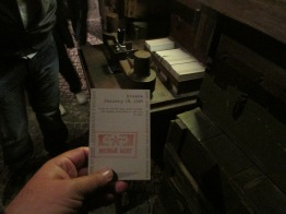The stamp machines throughout the museum
